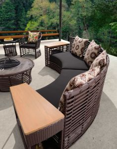 Modern Patio Furniture Sofa Sectional Couch Set with PE Rattan Furniture pictures & photos