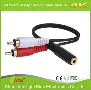 2RCA Plugs 3.5mm Stereo to Dual RCA Audio Adapter Cable pictures & photos