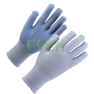 Hot Sale Dotted Working Gloves PVC Dotted String Knit Gloves Cheap Work Gloves pictures & photos