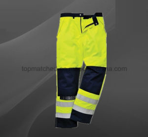 High Visibility Multi Pockets Cargo Safety Ykk Zipper Pants pictures & photos
