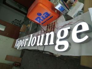 Store Advertising LED Lamp Panel Stainless Steel Resin Letters Sign pictures & photos