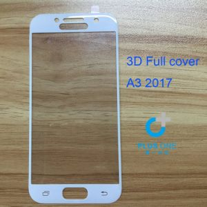 3D Mobile Phone Screen Protector for Sam A3 (2017) White Color pictures & photos