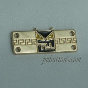 Polishing Shiny Fancy Gold Metal Sew Labels for Clothing pictures & photos