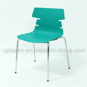 Wholesale Color Customizable Plastic Chair with Chrome Steel Leg (SP-UC492) pictures & photos