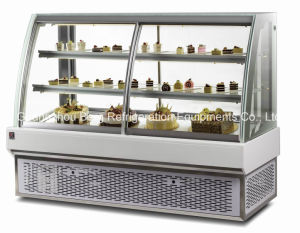 Durable Custom-Made Multi-Function Glass Cake Display Refrigerator with Ce pictures & photos