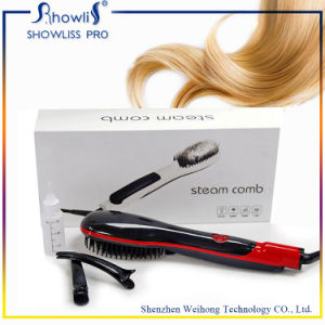 Portbale Steamed Sprary LCD Screen Hair Straightener Brush pictures & photos