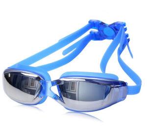 Adult Swimming Goggles Swim Silicone Anti-Fog Glasses pictures & photos