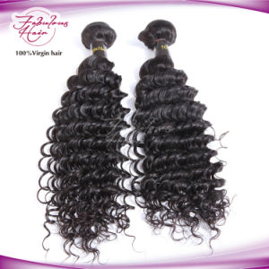 Unprocessed 8A Deep Wave Indian Rmey Virgin Human Hair Weaving pictures & photos