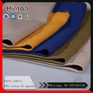 Hot Sale High Quality Cotton Pants Fabric with Stretch pictures & photos