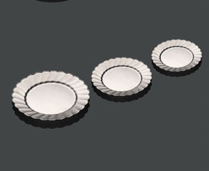 """Hard Plastic Silver Party Plate 6"""" Round pictures & photos"""
