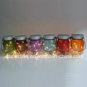 Beautiful Hanging Halloween Decorative Solar LED Fairy Jar Light pictures & photos