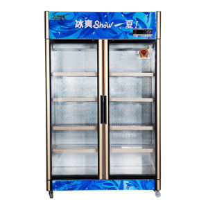 Upright Opening Three-Door Refrigerator for Sale with LED Light pictures & photos