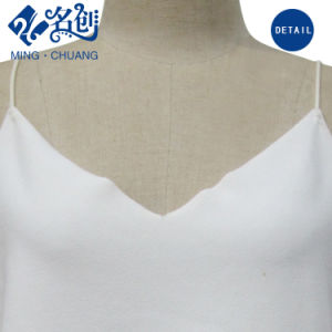 Newstyle White Sexy Cotton fashion Women Sun-Top with Strips pictures & photos