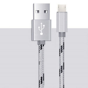 Popular Tiger Stripes Nylon V8 Micro USB Phone Charger Cable pictures & photos