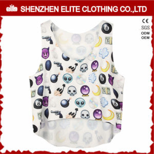 Custom Made Fashionable Sublimation Gym Singlets Women (ELTVI-39) pictures & photos