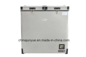 DC Horizontal Freezer Horizontal Refrigerator Portable Refrigerator Freezer Camping Fridge Freezer Stainless Steel Fridge pictures & photos