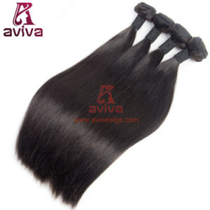 100% Human Hair Virgin Remy Brazilian Hair Extension Silky Straight pictures & photos
