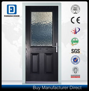Classic Hand Craft Tempered Art Glass Inserted Fiberglass Swing Front Door pictures & photos