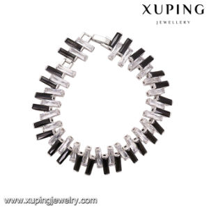74695 Fashion Charm Diamond Rhodium Plated Jewelry Bracelet pictures & photos