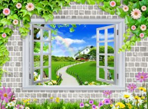 Window Views Fresh Air Wall 3D Oil Painting pictures & photos
