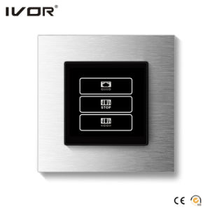 1 Gang Curtain Switch Glass Outline Frame (HR1000A-GL-CT(AC1)) pictures & photos