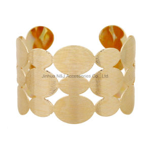Fashion Wide Cuff Bracelet Bangles Gold Plated Bracelets for Jewelry pictures & photos