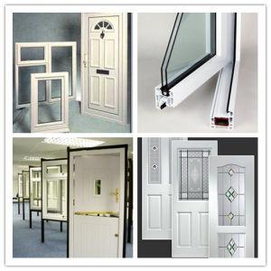 Swing Opening PVC Door UPVC Windows Double Glass Casement Windows pictures & photos
