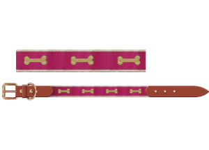 Bone Webbing Dog Collar with Real Leather Material, Pet Collar Supply pictures & photos