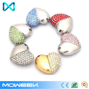 Crystal Heart Jewelry Storage USB Flash Drive pictures & photos
