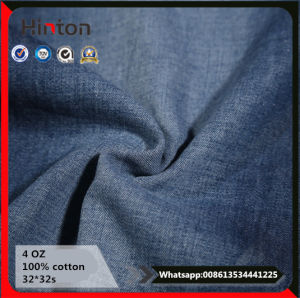 Composition Weaving 100% Cotton 32*32s 4oz Thin Denim Fabric pictures & photos
