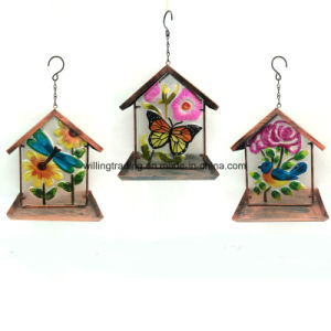 New Solar Lighted Metal Butterfly Garden Decoration in Wood Finish pictures & photos