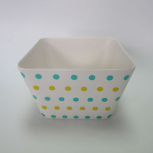 Bamboo Fiber Big Square Bowl Salad Bowl Soup Bowl Paisley Design Tableware pictures & photos