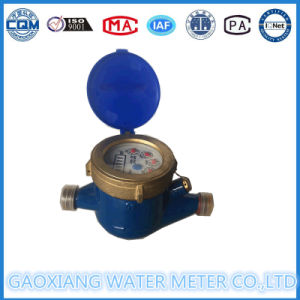 Dn15mm Multi Jet Dry Dail Water Meter of Iron Body, Brass Cover and Brass Fitting pictures & photos