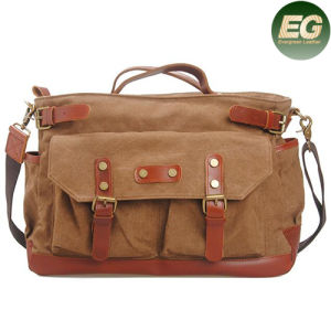 Hight Quality Canvas Hadnbags Crossbody Bag with Genuine Leather Ga07 pictures & photos