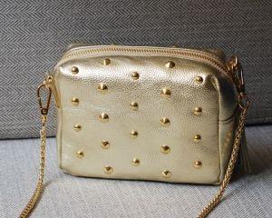 Fashion Cow Leather Ladies Cross Body Messenger Shoulder Bag (H505) pictures & photos