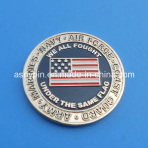 Hotsale Merry Christmas Coin Gift Enamel USA Flag Design 3D Metal Coin Souvenir pictures & photos