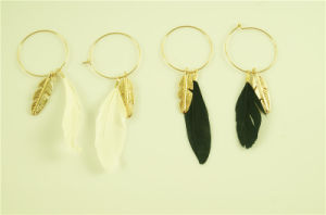 Feather Earring with Alloy Leaf pictures & photos