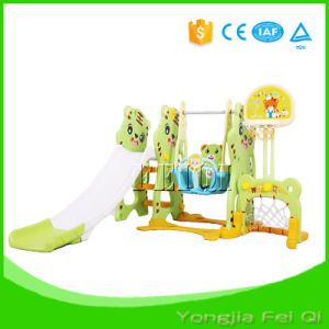 Indoor Playground Mutifunction Iron Pipe Six in One Long Slide and Iron Swing with Basketball Hoop Stand, Football Door Kid Toy Mh Series pictures & photos