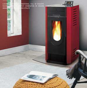 Automatic Ignition Biomass Pellet Fireplace for Sale pictures & photos