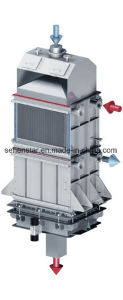 Sodium Carbonate Powder Welded Plate Heat Exchanger Fluid Bed Granulator pictures & photos