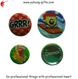Cheaper Tinplate Tin Button Badges with Safety Pin (YH-TB008) pictures & photos