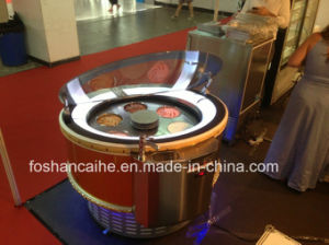Round Rotatable Ice Cream Display Showcase pictures & photos