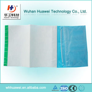 Disposable Hospital PU Film Surgical Dressing Drape with One or Two Collect Bag pictures & photos