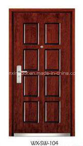 High-Quality Steel Exterior Wooden Door (WX-SW-101) pictures & photos