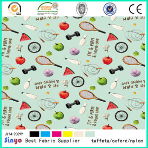 Oxford Anymal Flower Bike Car and Fruit Printed Fabric for Table Cloth pictures & photos