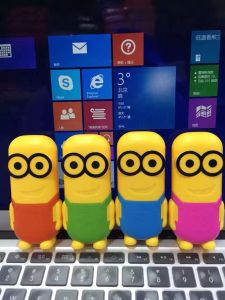 Hot Selling Colorful 2200mAh Portable Minion Carton Power Bank