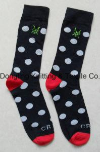 Fancy Lady DOT Jacquard Design Cotton Happy Socks Long Socks pictures & photos