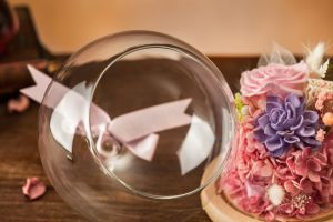 Preserved 100% Natural Real Rose Flower in Glass for Birthday Gift pictures & photos