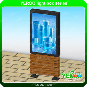 Outdoor Double Sided LED Lightbox Mupi Advertising Scrolling Light Box pictures & photos