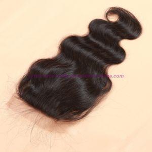 8A Virgin Human Hair Silk Base Closure Unprocessed Peruvian Hair Body Wave Closures pictures & photos